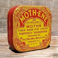 Vintage Original 1910s MOTHENE MOTHS INSECT Killer Insecticide Tin Unused NOS