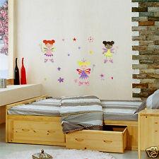 3 Fairies Removable Wall Art Decal for kids / Nursery room decor