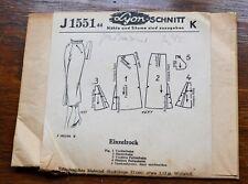 Vintage 1940s German Lyon-Schnitt J1551 Sewing Pattern for a Ladies Skirt