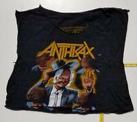 Vtg Anthrax  Among the Living tour shirt  NOT  a  reprint. SLAYER Iron Maiden
