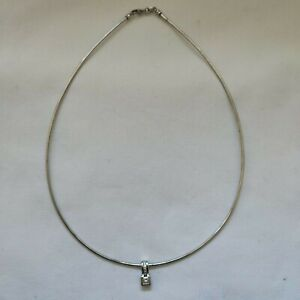 Gregory Jewellers White Gold Chain with Princess Cut Diamond Pendant