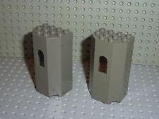 2 x LEGO Castle OldDkGray wall 30246 / set 4730 6091 6098 4817 6028
