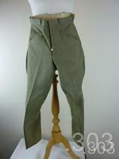 Vintage Green Twill Horse Riding Jodhpurs / Breeches