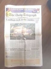 VINTAGE NEWSPAPER DAILY TELEGRAPH JUNE 4th 2002 H.M. QUEEN ELIZABETH II JUBILEE