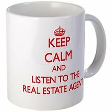 11oz mug Keep Calm and Listen to the Real Estate Agents