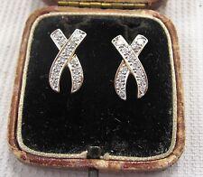 Diamond Earrings set in 9ct Yellow Gold