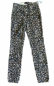 NWT Volcom Super Stoned High Rise Skinny Button Fly Jeans Size 25 Animal Print