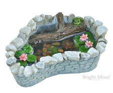 Fiddlehead Fairy Garden - FAIRY HOME ACCESSORIES - Frog & Lily Pad Pond