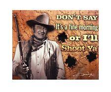 "John Wayne ""I'll Shoot Ya"" Licensed Plush Throw Blanket 50""x60"""