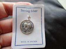 VINTAGE ENGLISH STERLING SILVER SEALED CHARLES PRINCESS DIANA FOB CHARM PENDANT