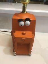 Rare Vintage Orange Cecil Lamp Computer Box Bone Ears Eyes Switch Light White