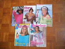LOT de 5 catalogues tricot SABRINA et DIANA/Années 1990 à 2007