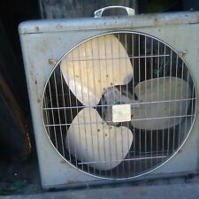 VINTAGE 22 inch Metal Industrial Heavy 3 SPEED BOX FAN