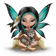 Hamilton Collection Jasmine Becket-Griffith Mystical Fairy With Wolf Moonheart