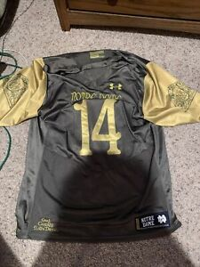 Notre Dame Under Armour Shamrock Series Football Jersey #14 God Country L