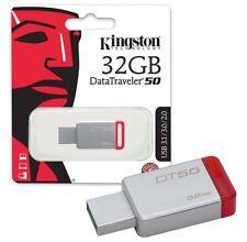 Kingston DataTraveler DT50 USB 3.1 3.0 32gb Thumb Flash Drive Mini Durable