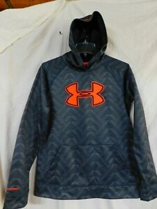UNDER ARMOUR BOY'S GRAY PRINT LOOSE HOODIE/SIZE YOUTH EXTRA LARGE/PRE-OWNED