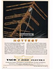 1962 TACO T-Bird Electra TV Television Rooftop Antenna Vtg Print Ad
