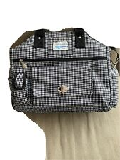 Jet Pac Black/White Houndstooth Woman's Tennis Bag Holds 2 Racquets