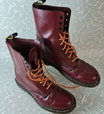 Dr. Martens Airwair Cherry Red 10 Eye High Boots UK Size 10