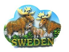 Elch Moose Magnet Schweden Souvenir Poly Sweden 3 er Family Gruppe