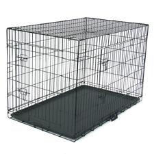 "48"" Pet Kennel Cat Dog Folding Steel Crate Animal Playpen Wire Metal New"