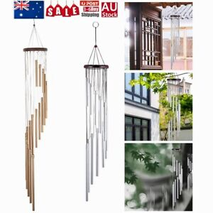 Large Wind Chimes Bell Stainless Butterfly 18 Tube Outdoor Windchime Garden Yard