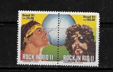 BRAZIL SC#2299a ATTACHED  MNH-MINT ROCK IN RIO COMMEMORATIVE STAMP SET LOT