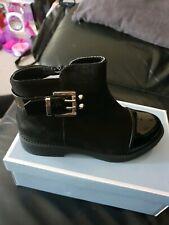 Girls Black Boots Size 7 eu 25