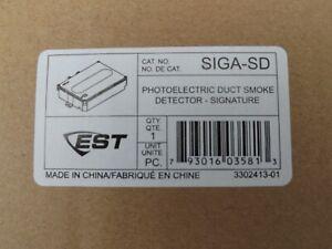 EST Edwards SIGA-SD Photoelectric Duct Smoke Detector - Signature