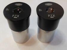 2 x (two) pair Olympus Tokyo Bi P7X Microscope EyePiece Lens, Made in Japan p7 x
