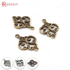 50PCS Zinc Alloy Modeling Charms Connect Charms Diy Jewelry Findings Accessories