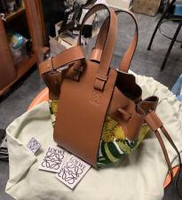 NWT Loewe Hammock Mini Tan Leather Shoulder Bag ($2650.)  Sunflower floral