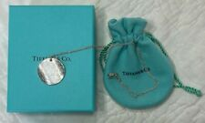 EUC AUTH TIFFANY & CO LARGE ROUND NOTES PENDANT & NECKLACE STERLING 925 17""