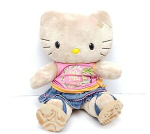 Build a Bear Sunkissed Tropical Tan Hello Kitty Plush Hawaii Limited *No Bow