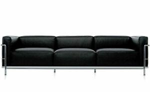 Classic design Le corbusier style LC3 Sofa in genuine top grain leather