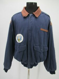 P4807 VTG Men's US Army Air Forces Type A-2 Bomber Jacket Made In USA Size 2XL