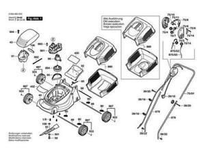 BOSCH Rasenmäher ROTAK 32 original Bosch Ersatzteile Liste Teil 1 Neu