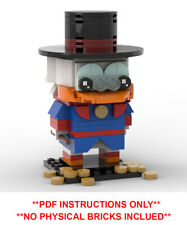 Disney Lego Brickheadz Scrooge McDuck - MOC - PDF INSTRUCTIONS ONLY - NO BRICKS!