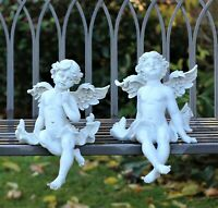 Garden Ornament  Home Decor Magical Fairy Angel Pair Figurine Statue