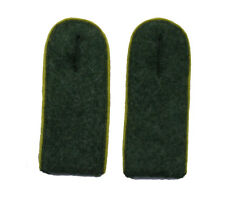 German WW2 Army M43 enlisted ranks shoulder boards.Yellow piping