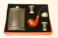 Flask Stainless Steel Smoking Pipe Shot Glass Set Tobacco Pipe CROC