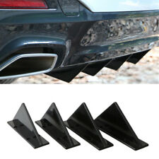 4x Car Rear Bumper Spoiler Shark Fin Lips Diffuser Protector Covers Universal