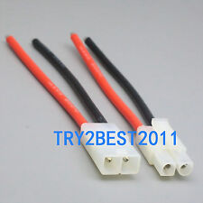 RC Pairs Male + Female Tamiya Battery Connector 14awg 10cm Wire