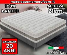 Materasso in Lattice SFODERABILE Alto 21 cm 7 Zone - ORTOPEDICO - Matrimoniale