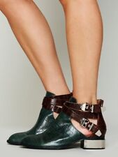 Free People Overland Croc Ankle Boot GREEN BOOTIES JEFFREY CAMPBELL SHOES $228