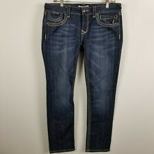 Express RERock Skinny Womens Dark Wash Blue Jeans Size 10S 10 Short