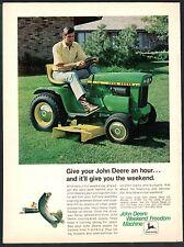 1972 JOHN DEERE 112 Lawn and Garden Tractor Mower Vintage Photo AD