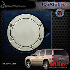Brushed Stainless Steel Gas Fuel Door Cover 07-14 Chevy Tahoe & GMC Yukon