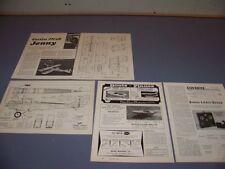 "VINTAGE..CURTISS JN-4D ""JENNY"" HISTORY...HISTORY/R-C MODEL PLANS ..RARE! (108N)"